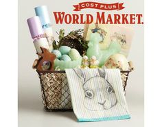 Hop into our Egg-Citing Easter Collection and check out our Easter Basket for The Hostess from Cost Plus World Market. Easter Candy, Hoppy Easter, Easter Eggs, Baby Easter Basket, Easter Baskets, Easter Crafts, Easter Ideas, Easter Decor, Holiday Essentials