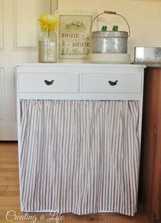 Hang a Cute Curtain #kitchens #homedecor
