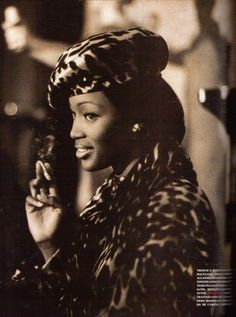 "Naomi Campbell ""Roma 'Dolce Vita' Night Party""Vogue Italia September 1992. Photo Michel Comte  www.gypseygoddess.com"