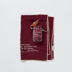 pellavapyyheliina . 65x45cm . väri vanha punainen . myydään lasipurkissa