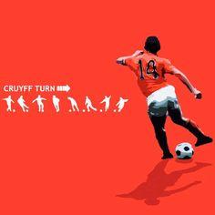 Johan Cruyff, born 25 April 1947, Dutch international attacking midfielder or forward (1966–1977), Ajax (1964-1973), FC Barcelona (1973-1978), Los Angeles Aztecs (1979-1980), Washington Diplomats (1980-1981), Levante (1981), Ajax (1981–1983), Feyenoord (1983-1984).