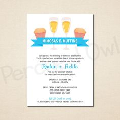 Mimosas & Muffins Invitation  Direct Selling  by PerchedOwl