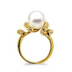 Δαχτυλίδι με μαργαριτάρι και διαμάντια σε χρυσό Κ18 - G314828 Ένα  φανταστικό δαχτυλίδι από 18 καράτια 8d3e7c91ac1