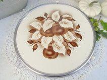 Tortenplatte für Apfelkuchen Spritzdekor shabby