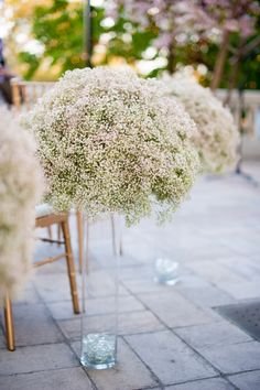 Mounds and mounds of Baby's Breath! So easy - So elegant! See the wedding on http://www.StyleMePretty.com/little-black-book-blog/2014/01/10/dar-headquarters-pink-gold-wedding/ Rebekah Hoyt Photography