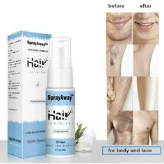 Unisex Natural Hair Growth Inhibitor Spray Body Hair Removal 2020 NEW Beauty Care, Beauty Skin, Hair Beauty, Beauty Secrets, Beauty Hacks, Hair Removal Spray, Face Hair Removal, Unwanted Hair, Natural Hair Growth
