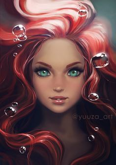 Ariel reboot by yuuza on deviantart anime disney princess, mermaid princess, ariel disney, Anime Disney Princess, Anime Princesse Disney, Disney Princess Drawings, Disney Drawings, Cute Drawings, Disney Princesses, Goth Disney, Disney Kunst, Digital Art Girl