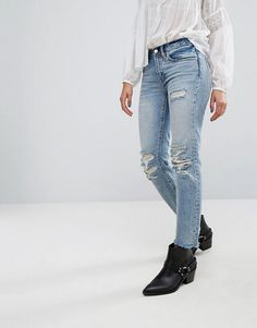 23f79b49 ALLSAINTS MUSE SLIM DESTROYS JEANS - BLUE. #allsaints #cloth # Slim Jeans,