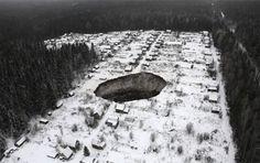 Buraco de 40 metros de diâmetro surge nas proximidades de mina de potássio - GEOLOGO.COM.BR - Tenha orgulho de ser um! O site da geologia no Brasil. Notícias, empregos, oportunidades, negócios na área.