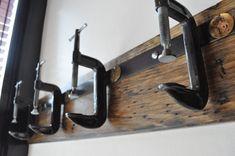 Industrial C Clamp Coat Rack by urbanwoodandsteel on Etsy, $115.00  #furniture_as_art