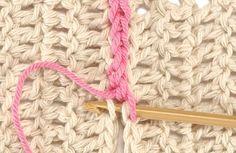 Puntos para unir cuadrados en #Crochet