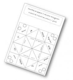 Cocotte en papier pour réviser / travailler la conjugaison de façon ludique. La matrice (Word) pour en faire est disponible.