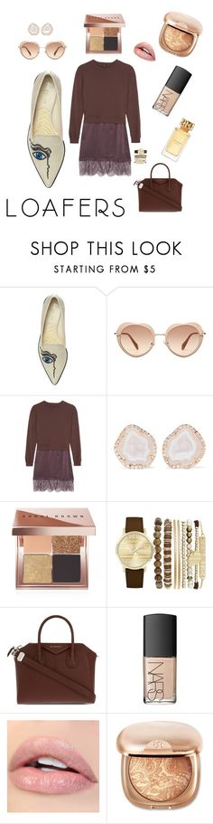 """Fall foot ware trend : loafers /w outfit"" by makeuphobbyist ❤ liked on Polyvore featuring Nicholas Kirkwood, Miu Miu, Clu, Kimberly McDonald, Bobbi Brown Cosmetics, Jessica Carlyle, Givenchy, NARS Cosmetics, Tory Burch and loafers"