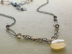 #Modern Citrine Necklace   #citrine #necklace  Repin, Like, Share!  Thanks!