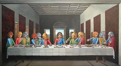 Pierre Adrien Sollier Playmobil paintings: Last supper Play Mobile, Most Famous Paintings, Famous Artwork, Classic Paintings, Chef D Oeuvre, Oeuvre D'art, Art Ninja, Toile Photo, Unique Art Projects