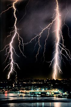 """""""If nature has anymore furry, it could be lights out in the five boroughs of New York City tonight.""""  Electrical storm - New York City"""