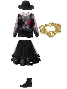 Really cool black outfit with gold bracelet #outfitswipe