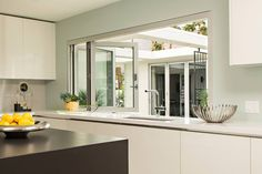 Servery Windows by LaCantina Doors feature an innovative application allowing for larger openings Maximize Space, Folding Doors, Windows And Doors, Window Treatments, Oversized Mirror, Interior Design, Kitchen, Furniture, Window Design