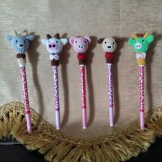 Buy Handmade Crochet Animal Pen/pencil Cap Holder in Singapore,Singapore. Animal pen/pencil cap holder inclusive of pen. Selling @$8.90 each. Goat = 1pc availiable. Cow = 1pc availiable. Pig = 1pc availiable. Dog = sold. Dragon = 1pc  Chat to Buy