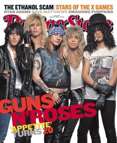 Guns N' Roses is an American hard rock band formed in Los Angeles, in 1985. The classic lineup as signed to Geffen Records in 1986 consisted of vocalist Axl Rose, lead guitarist Slash, rhythm guitarist Izzy Stradlin, bassist Duff McKagan, and drummer Steven Adler.
