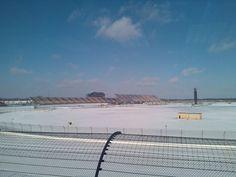 A Snow covered Michigan International Speedway...brrrr!