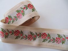 Your place to buy and sell all things handmade Pretty Green, Band, Green Leaves, French Vintage, 1940s, Coin Purse, Ribbon, Ivory, Cream