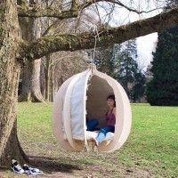 forget wanting a hammock in my backyard one day, I want a cocoon!