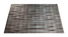 Kitchen Backsplash - Waves in Crosshatch Silver