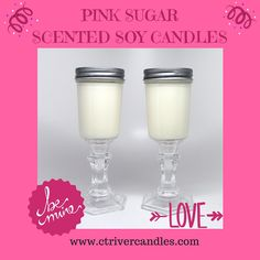 Pink Sugar Scented Wine Jar Soy Candles: #valentinesdaygifts #soycandles #connecticutriver #ctrivercandles #soycandles #connecticutsfavoritesoycandle #bemine2016 #love www.ctrivercandles.com