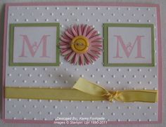 Mothers Day Cards Handmade | Stampin' Up! Easy Handmade Card for Mother's Day - Stamping with Karen