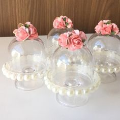 Wedding Favours, Party Favors, Mini Cupula, Baby Shower Decorations, Wedding Decorations, Ballerina Party, Ideas Para Fiestas, Diy And Crafts, Bridal Shower