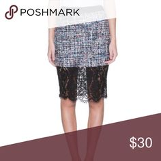 Trim Lace Skirt Trim multicolor skirt with Lace detail Skirts Pencil