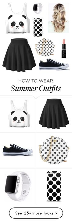 """Summer Outfit (dressy)"" by meganiaco on Polyvore featuring Converse, Dolce&Gabbana, Smashbox and Apple"