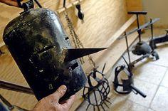 A torture mask at al-Shaab Stadium in Baghdad