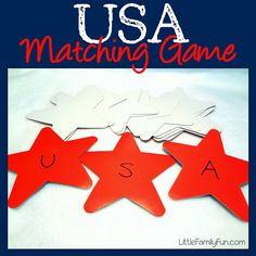 USA! Easy activity for preschoolers for 4th of July and the Olympics!