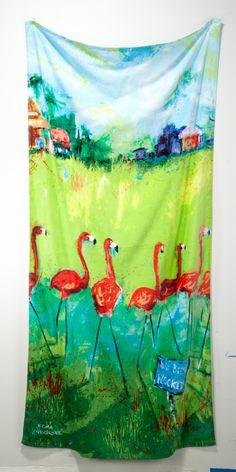 Leoma Lovegrove Flamingo Beach Towel #beallsflorida