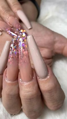Classy set of nude color with Purple iridescent Encapsulation Nail Art Designs by Nail Salon in Las Vegas NAB Nail Bar Nude Nails, Pink Nails, Acrylic Nails, Fashion Art, Fashion Show, Fashion Tips, Coffin Nails Long, Nail Bar, Nude Color