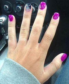 Beautiful purple nails #nail #nails 20 Easy Nail Art Design Ideas