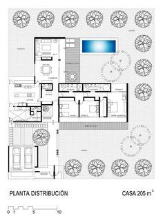 Home Design Minimalist Architecture Floors Super Ideas Minimalist House Design, Minimalist Architecture, Architecture Plan, Dream House Plans, Modern House Plans, House Floor Plans, Dream Houses, Modern Home Interior Design, Modern House Design