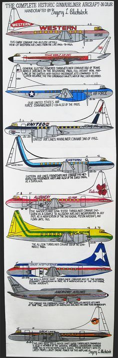 The Complete Historic Convair Liner Aircraft – In Color – Garde Rail Gallery