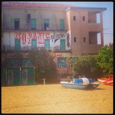 NO PANIC please! #nopanic #weekend #rimini #sea #mare #spiaggia #centrosociale #murales #pattini #beach #beachlife #sun #sunshine #sole #ig_italy #ig_romagna #ig_rimini #igers_rimini #igers_romagna #romagna by _claris00_