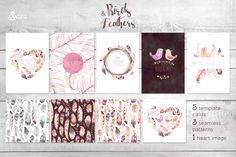 Birds & Feathers collection by OctopusArtis on Creative Market