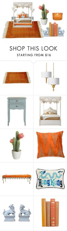 """""""Orange and Baby Blue Dreams"""" by roo-roo-lu ❤ liked on Polyvore featuring interior, interiors, interior design, home, home decor, interior decorating, Safavieh, Haute House, Jonathan Adler and Frontgate"""