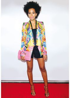 Solange Knowles, hair, clothes, makeup everything is perfect