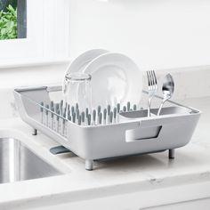 OXO Good Grips® Abtropfgestell mit Stiften, abnehmbarer Besteckkorb, Edelstahl: Amazon.de: Küche & Haushalt 45eur
