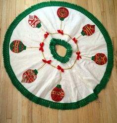 60s Felt Tree Skirt by lishyloo on Etsy