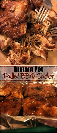 Instant Pot Pulled BBQ Chicken   Aunt Bee's Recipes