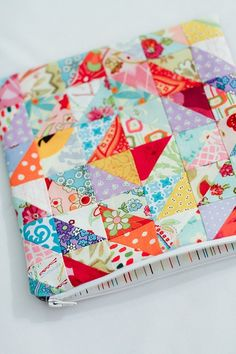 pretty patchwork pouch.