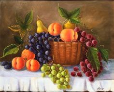 Resultado de imagen para Still life with fruits Still life with fruits by Igor Kazarin Color Pencil Sketch, Still Life Fruit, Autumn Scenes, Fruit Painting, Mosaic Projects, Home Decor Paintings, Cute Backgrounds, Fruit Art, Small Art