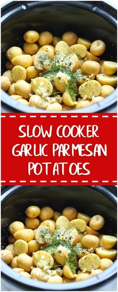 SLOW COOKER GARLIC PARMESAN POTATOES – Fresh Family Recipes